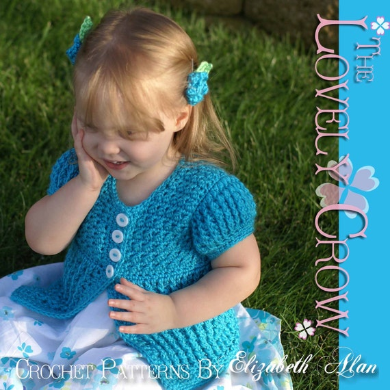 Baby Sweaters To Crochet Patterns : Baby Cardigan Crochet Pattern Vest Sweater or Cardigan