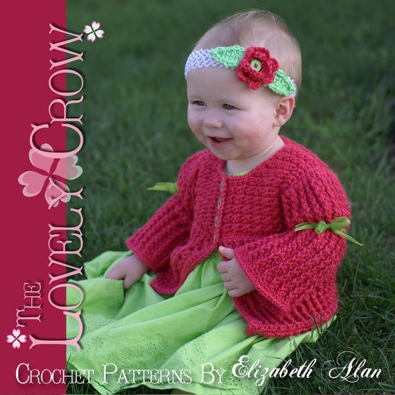 Children Cardigan Crochet Pattern Vest, Sweater, or Cardigan, BELLA SARAH CARDIGAN digital