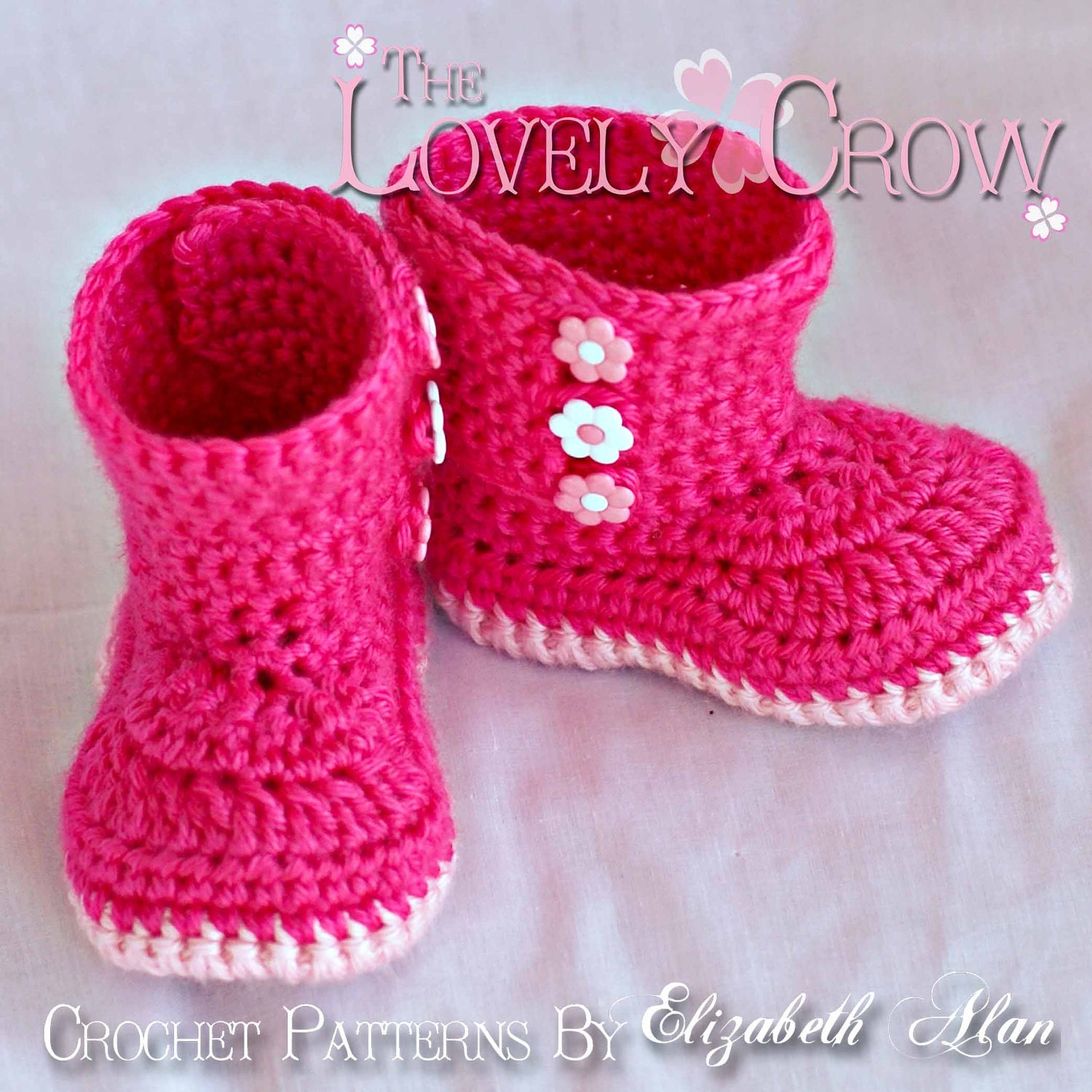 Crochet Baby Girl Boots Pattern : Booties Crochet Pattern Boots for BABY GARDEN BOOTS digital