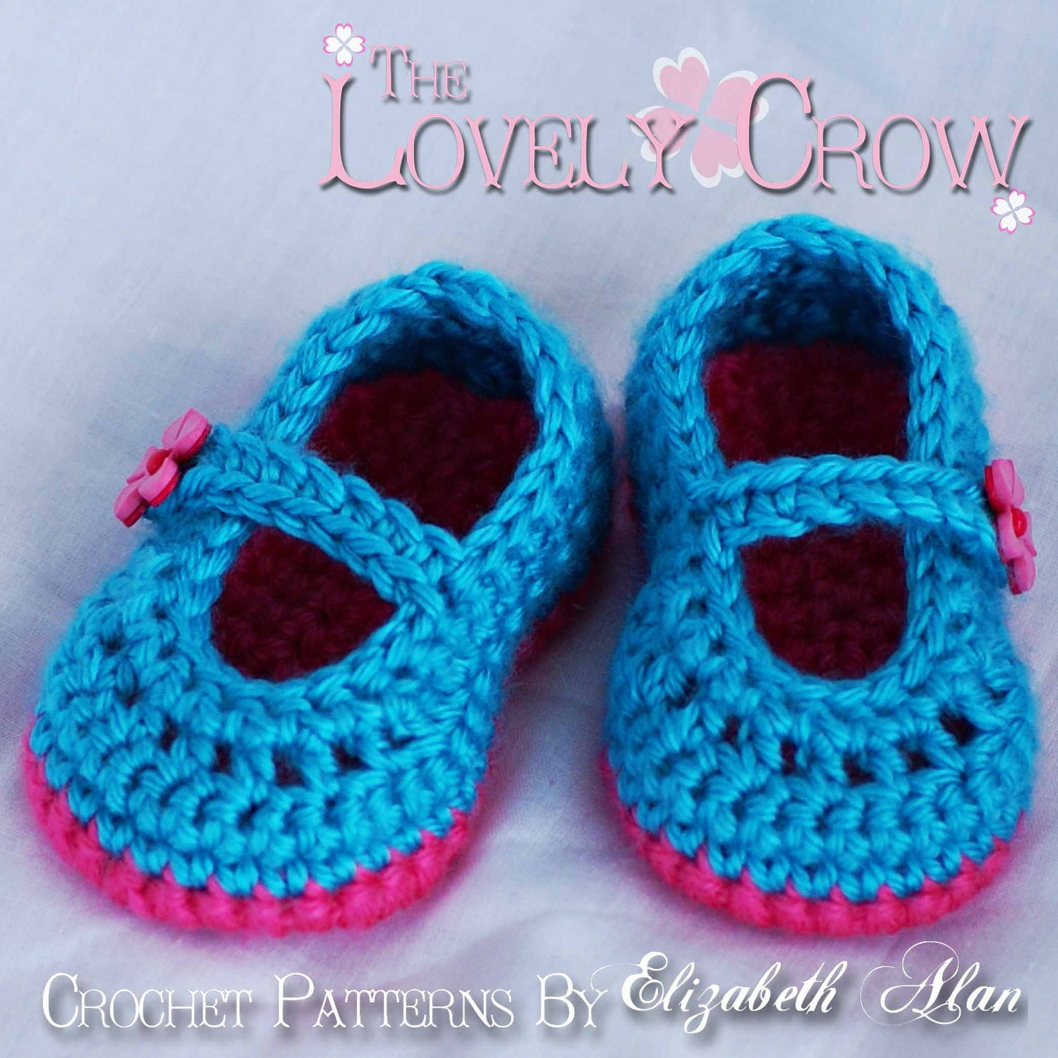 Free Crochet Patterns For Girl Booties : Girl Booties Crochet Pattern for Baby Teaparty Maryjanes 4