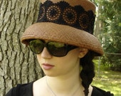 CLOCHE HAT for Women / Straw Hat / Panama Hat / Easter Hat / Sun Hat / Handmade Hat / The Millinery Shop / Etsy Hats