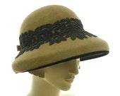 Wide Brim Hat for Women - Vintage Fashion Hat