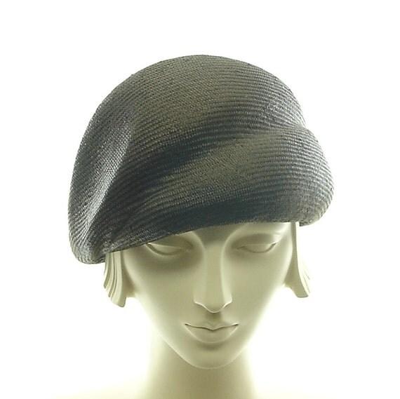 Straw Cloche Hat for Women - Retro Fashion Hat - Blocked Turban Hat -  Very Dark Brown Hat