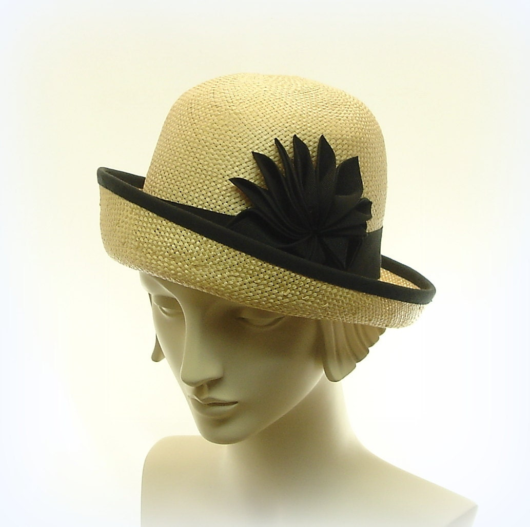 Cloche Hat for Women 1920s Fashion Hat Breton Hat Natural