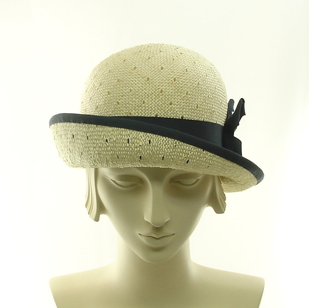 straw hat for cloche hat vintage style fashion hat