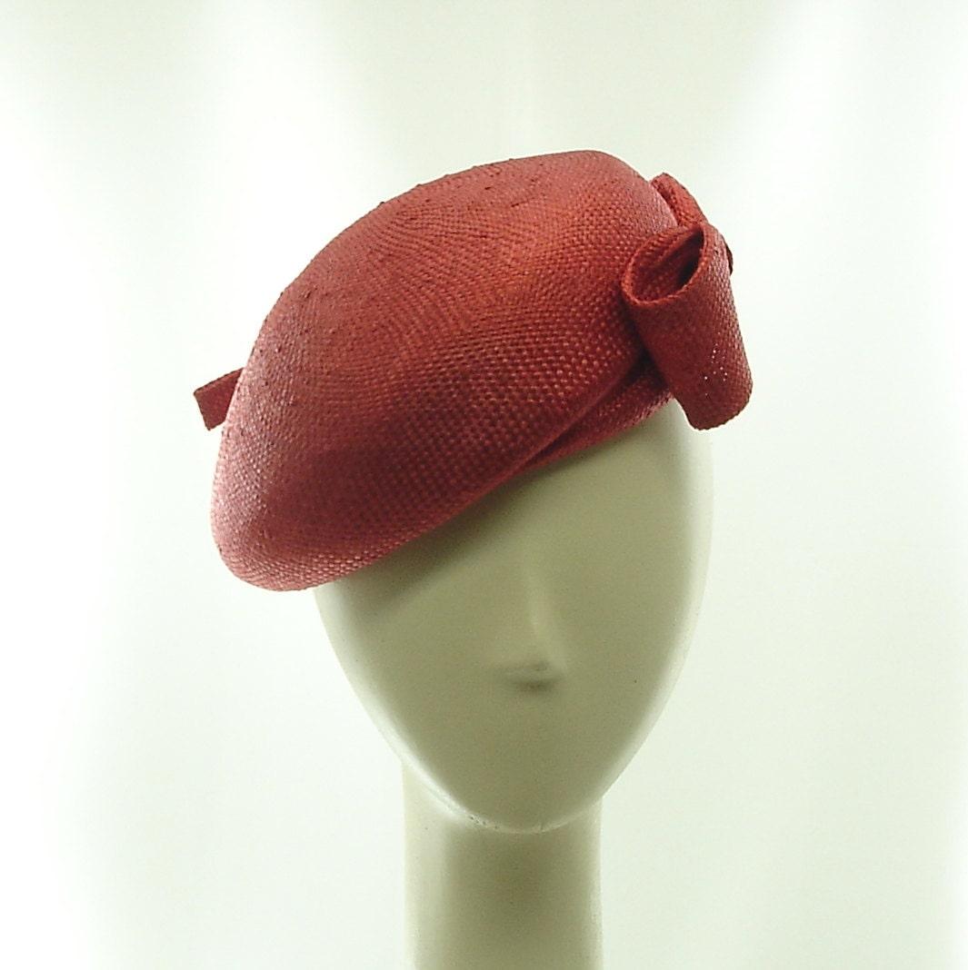 beret hat for 1940s straw hat handmade vintage