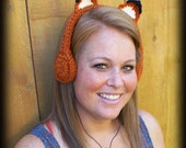 Foxy Crocheted Headphones