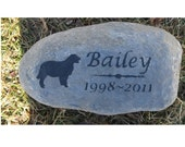 Personalized Pet Stone Dog Memorial Stone 8-9 Inch Pet Burial Cemetery Tombstone Grave Marker Golden Retriever & Other Breeds