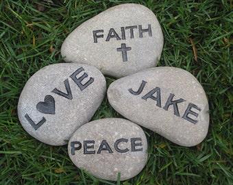 Personalized Engraved Stone Name Inspiration Stone