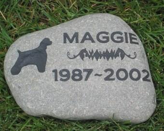 Personalized Pet Memorial Stone Cocker Spaniel Cemetery Burial Memorial Stone Grave Marker 10-11 Inch