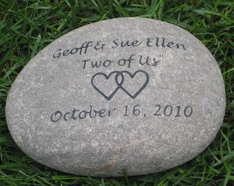 Oathing Stone Engraved Wedding Gift Stone Wedding Oath Stone 10 - 11 Inch