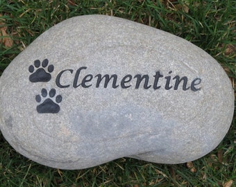 Pet Loss, Sympathy, Personalized Pet Memorial, Dog Memorials, Cat Memorial Stone, Garden Stone Memorials, Pet Stone Marker 8-9 Inches