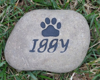 Personalized Pet Memorial Stone 3 - 4 Inch Memorial Burial Stone Grave Marker
