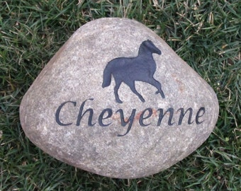 PERSONALIZED Horse Memorial Stone Grave Marker 9-10 Inches Horse Memorial