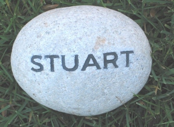 Personalized Engraved Garden Stone With Name 4 5 Inch Garden