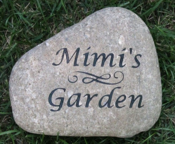 personalized garden stone custom engraved river by