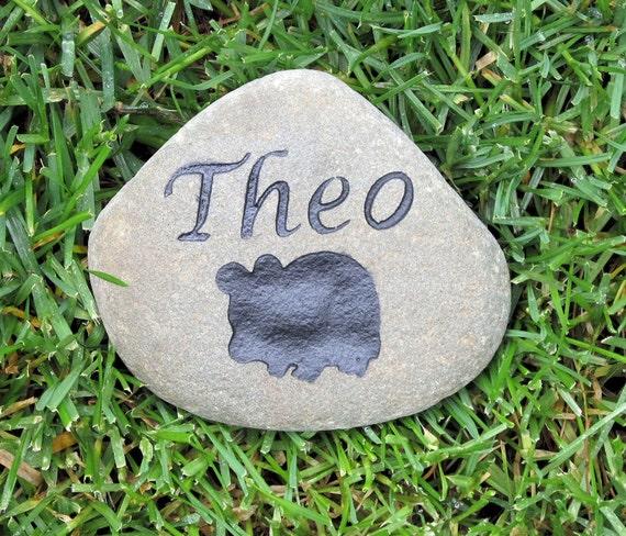 Personalized Hamster or Gerbil Memorial Stone Pet Stone Memorial  4-5 Inch Grave Marker
