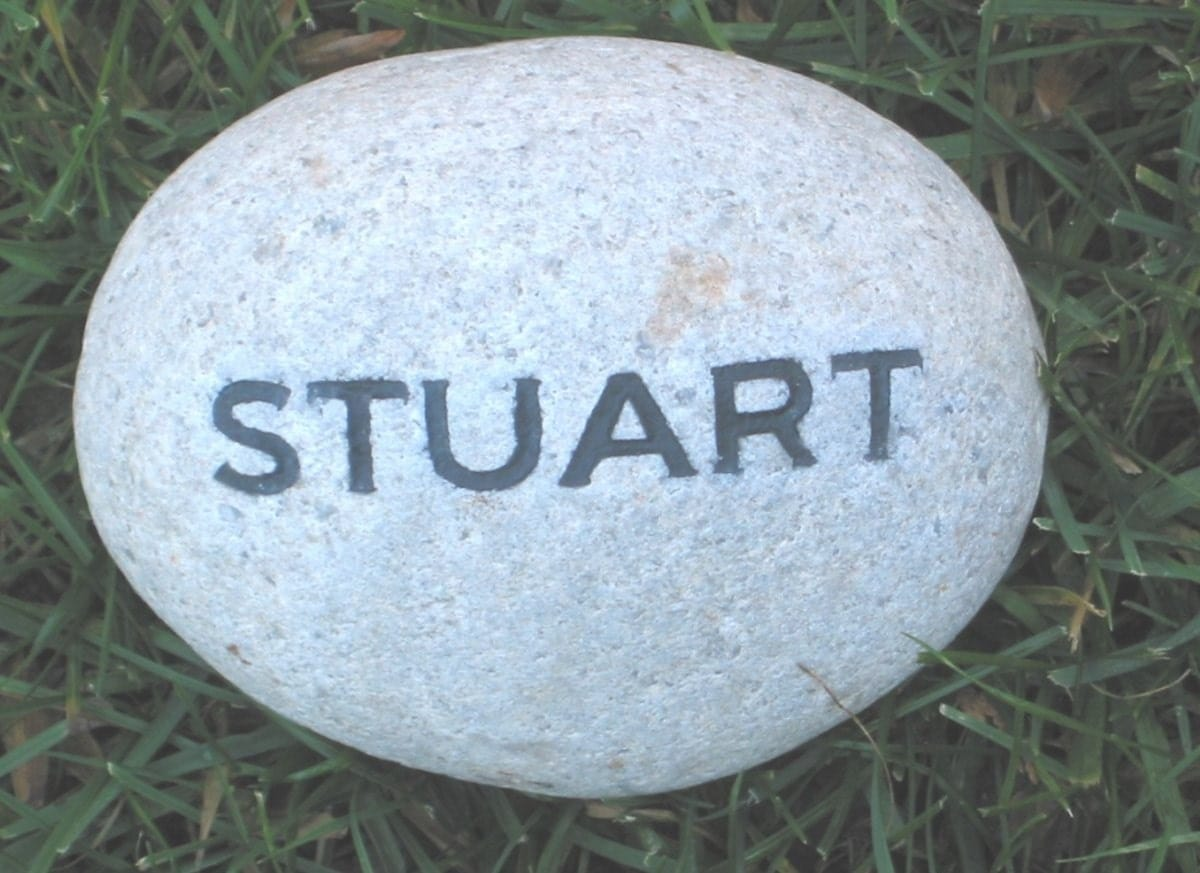 personalized engraved garden stone with name by