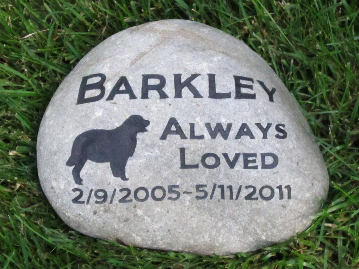Personalized Pet Memorial Stone Marker Golden Retriever