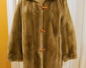 Vintage Faux Mink Car Coat