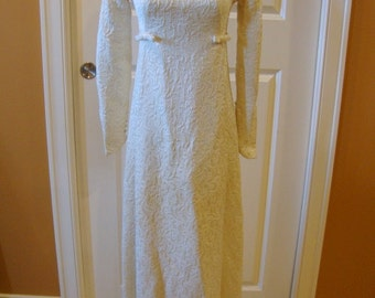 Beautiful Brocade 1960s Vintage Wedding Dress