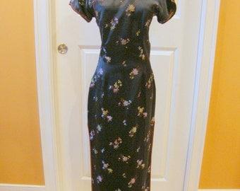 Elegant Vintage Chongsam Style Gown