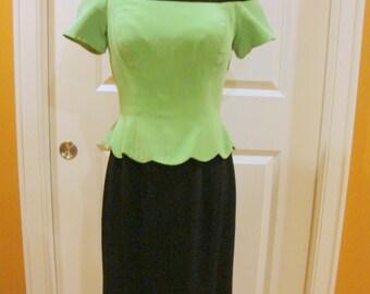 Chic Vintage English Designer Dress