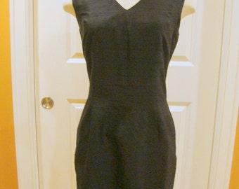 Vintage  Silk Little Black Cocktail Dress