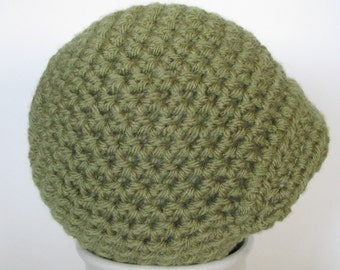 Crochet Newsboy Hat, Photography prop, Crochet Baby Boy hat, Gift, 0 to 3 months, Green