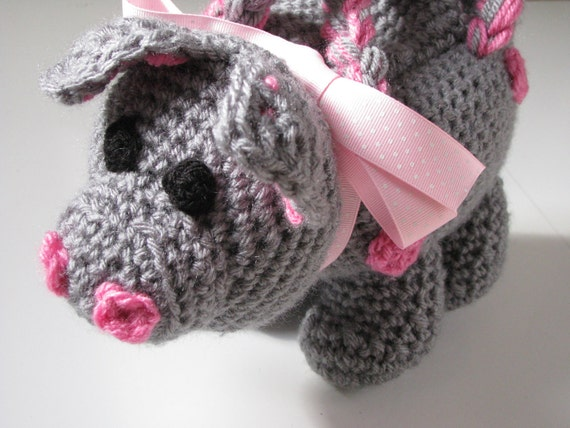 Crochet Pig Piggy Purse
