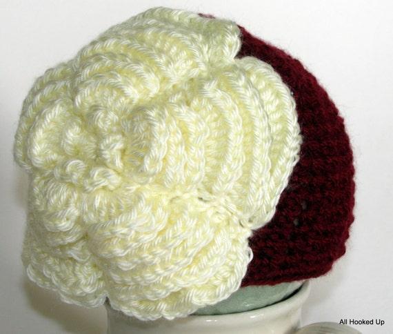 Baby Girl Hat, Crochet Newborn Hat, Crochet Baby Girl Hat, Crochet Beanie, Flower Hat, Infant Hat, Crochet photo prop