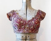 vintage beaded indian top (xs)