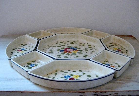 vintage 1970s LONGCHAMP Nemours serving plates