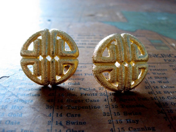 vintage 1980s Givenchy gold-tone clip-on earrings