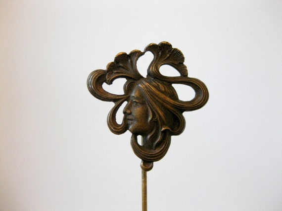 antique Art Nouveau hat pin