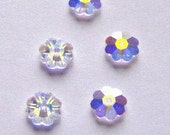 Swarovski Crystal Beads SPACER 3700 Crystal Beads CRYSTAL AB, great for layering, margarita, marguerite lochrose, flowers
