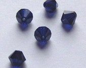 Swarovski crystal beads BICONE 5328 crystal beads DARK INDIGO (blue) -- Available in 3mm, 4mm, 5mm and 6mm