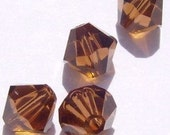 Swarovski Crystal Beads BICONE  Crystal Beads SMOKED TOPAZ  - Available in 3mm, 4mm, 5mm and 6mm