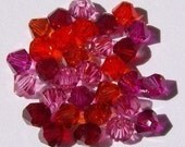 60 Swarovski crystal beads -- 5 Different colors -- Swarovski 4mm BICONE 5328 crystal beads MIX 35