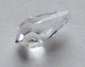 Sale -- 2 Swarovski 13mm TEARDROP 6000 Crystal Beads  CLEAR CRYSTAL