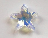 1 Swarovski crystal Pendant bead 20mm Starfish -- CRYSTAL AB