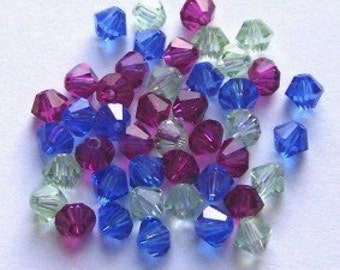 Swarovksi bicone crystal bead mix  4mm BICONE style 5328 crystal beads  MIX 3