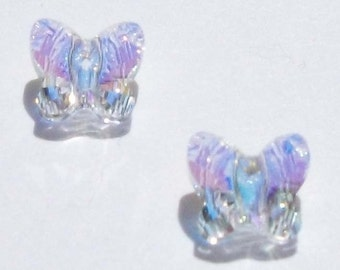 Swarovski elements crystal Butterfly beads CRYSTAL AB - Available in 6mm, 8mm and 10mm