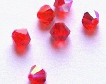 Clearance Sale -- 25 Swarovski Crystal Beads 4mm BICONE 5301 crystal beads HYACINTH AB