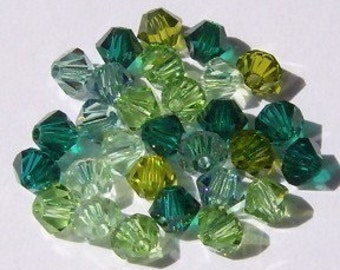 Swarovski crystal beads - 5 Different colors -  Swarovski BICONE 5328 Crystal Beads  MIX 34  Available in 4mm and 6mm