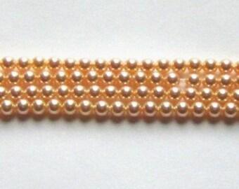Clearance Sale -- 6mm Swarovski crystal beads 6mm PEARL 5810 crystal beads PEACH - 25 pc