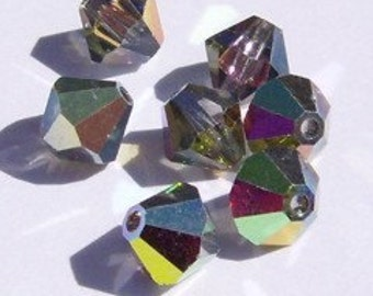 Swarovski crystal bicone style 5328 crystal beads VITRAIL MEDIUM -- Available in 3mm, 4mm and 6mm