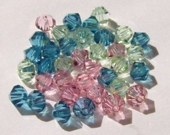 Swarovski elements crystal beads BICONE 5328 Crystal Beads  MIX  12 -- Available in 4mm and 6mm