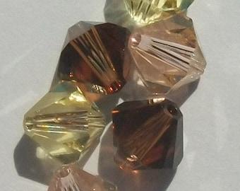 60 Swarovski crystal beads -- 3 different colors -- Swarovski 4mm BICONE 5328 Crystal Beads MIX 308