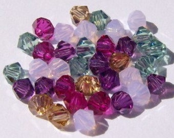 Swarovski Crystal Beads BICONE 5328 crystal beads MIX 33  -- Available in  4mm